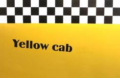 Gele cabine als achtergrond Stock Foto's