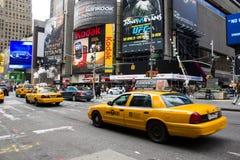 Gele cabines in New York. Momenteel zijn er mo Stock Afbeeldingen