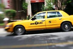 Gele cabines NYC Stock Fotografie