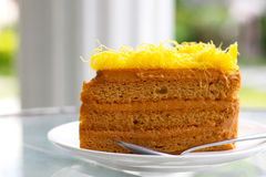 Gele cake Stock Foto's