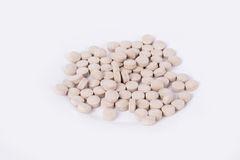 Gele capsules/pillen met vistraan Omega 3 Stock Afbeeldingen