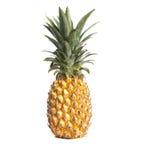 Gele caribean die Ananas op wit wordt geïsoleerd Royalty-vrije Stock Fotografie