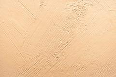 Gele cement verfraaide muur Stock Afbeelding