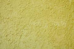 Gele cementtextuur Stock Afbeeldingen
