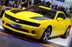 Gele Chevrolet Camaro Stock Afbeelding
