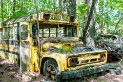 Gele Chevrolet-Schoolbus Royalty-vrije Stock Fotografie