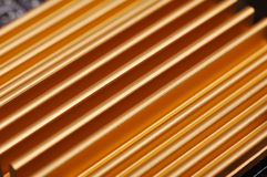 Gele chipset heatsink Royalty-vrije Stock Fotografie