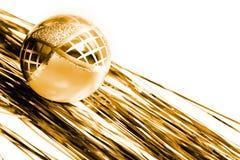 Gele chrismasdecoratie Royalty-vrije Stock Fotografie