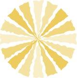 Gele CirkelAchtergrond Royalty-vrije Stock Afbeeldingen