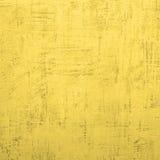 Gele concrete muur. Stock Fotografie
