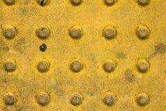 Gele concrete textuur Stock Afbeelding