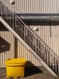 Gele Container Stock Foto's