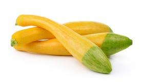 Gele courgette op witte achtergrond Stock Afbeelding