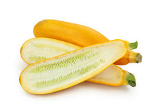 Gele courgettes Stock Afbeelding