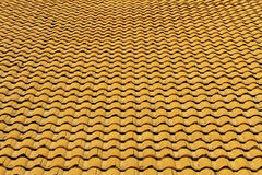 Gele daktegels Stock Fotografie