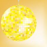 Gele de bal van de disco Stock Fotografie