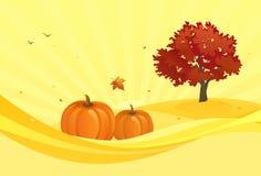 Gele de herfstachtergrond Stock Afbeeldingen
