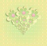 Gele de kaart van de de gelukwensengroet van de bloemenlente Stock Fotografie