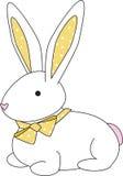 Gele de punt van het konijntje vector illustratie
