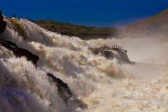 Gele de rivierhukou van de waterval Stock Afbeeldingen