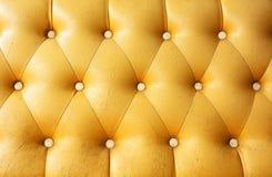 Gele de textuur oude huid van het luxeleer Royalty-vrije Stock Afbeelding