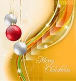 Gele de vakantieachtergrond van Kerstmis Stock Fotografie