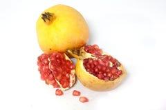 Gele de vruchten van de granaatappel. Royalty-vrije Stock Afbeeldingen