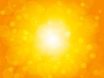 Gele de zomer helder achtergrond met cirkels royalty-vrije illustratie