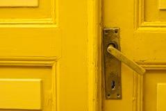 Gele deur Stock Foto