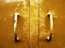 Gele deur royalty-vrije stock fotografie