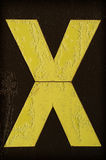 Gele die brief X met vorst wordt behandeld Royalty-vrije Stock Foto's