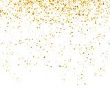 Gele die Confettien op Witte achtergrond worden geïsoleerd Gouden Delen stock illustratie