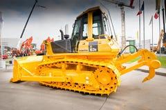 Gele diesel bulldozer Stock Foto