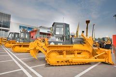 Gele diesel bulldozer Stock Afbeelding