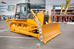 Gele diesel bulldozer Royalty-vrije Stock Foto