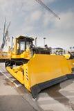 Gele diesel bulldozer Royalty-vrije Stock Fotografie