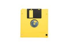 gele diskette Stock Foto's