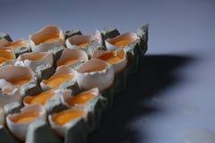 Gele dooiers, abstract beeld Stock Afbeeldingen