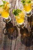Gele dranken Royalty-vrije Stock Foto's