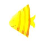 Gele driehoeksvissen Stock Foto's