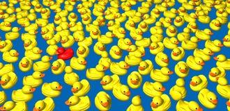 Gele eenden Royalty-vrije Stock Afbeelding
