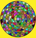 Gele en abstracte cirkel Stock Foto's
