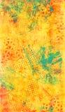 Gele en Blauwe Abstracte Textuur stock afbeeldingen