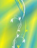 Gele en blauwe achtergrond stock illustratie