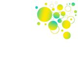 Gele en blauwe achtergrond Stock Fotografie