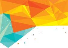 Gele en blauwe driehoeken Abstracte achtergrond Stock Illustratie