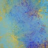 Gele en blauwe verfspat en grunge onlight blauwe achtergrond met uitstekende textuur vector illustratie