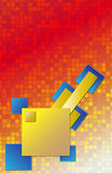 Gele en blauwe vierkanten Stock Afbeelding