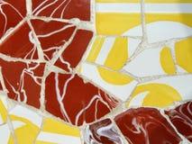 Gele en bruine mozaïekdecoratie Royalty-vrije Stock Fotografie