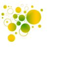Gele en groene achtergrond Stock Afbeelding